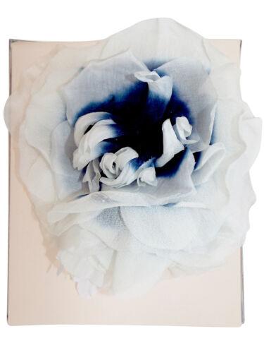 Ladies Ex JACQUES VERT 100/% Silk Flower Corsage White /& Navy