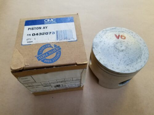New OEM OMC P//N 432073 STBD STD Piston 1988-92 185 to 235 HP Evinrude Johnson