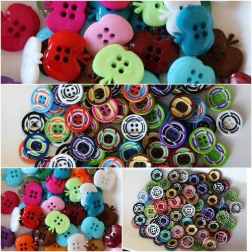 4 Hole Round Sew On Art/&Craft,Scrapbooking 20 x ACRYLIC BUTTONS 15-20mm