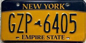 GENUINE-New-York-Empire-State-USA-Gold-License-Licence-Number-Plate-GZP-6405