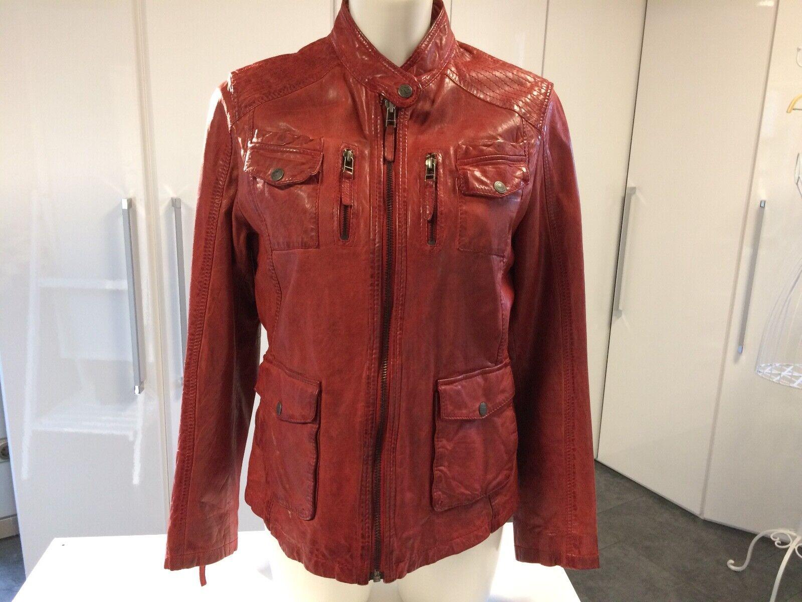 Lederjacke von Chevirex Größe 40 Rot   kaum getragen