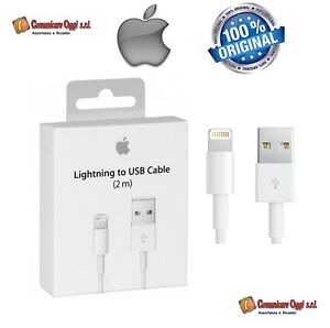 Cavo-Dati-Lightning-2-mt-metri-Originale-Apple-iPhone-5-5S-in-Bulk-MD819ZM-A