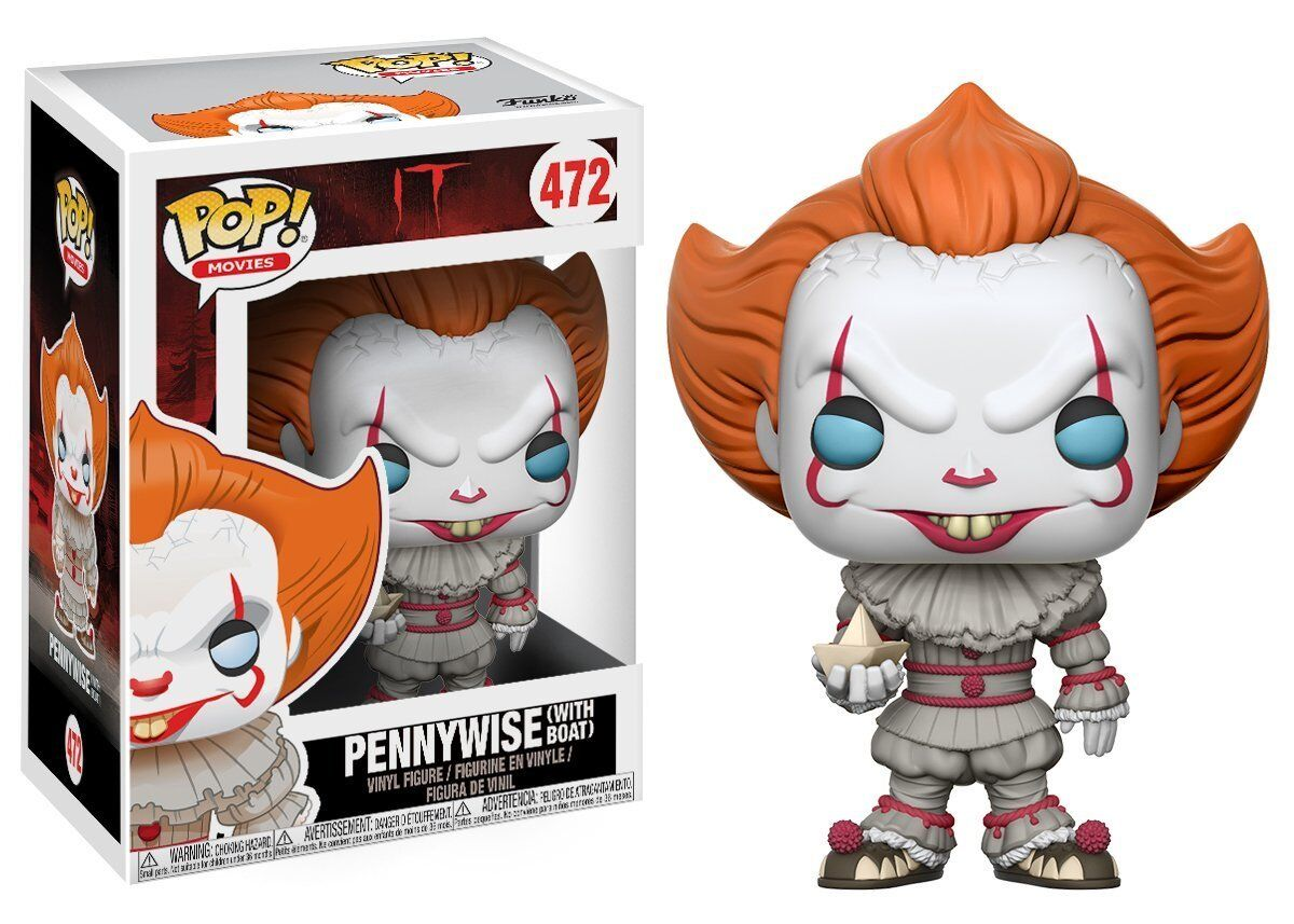 Pennywise with Boat IT Clown ES Horror POP  Movies Vinyl Figur Funko