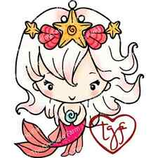 OONA MERBEAN-The Greeting Farm Cling Rubber Stamp-Stamping Craft-Bean-Mermaid