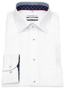 Marvelis Hemd Comfort Fit Patch Kontrastknöpfe weiß 7001 64 00