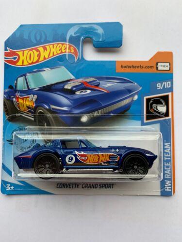 Hot Wheels Corvette Grand Sport Blau HW Race Team 9//10 2019 NEU