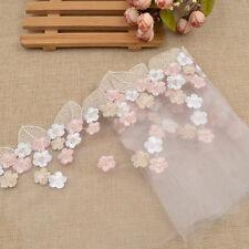 Blatt Blume Borte Deko Applikation Transparent Stickerei Nähen Hochzeit Damen