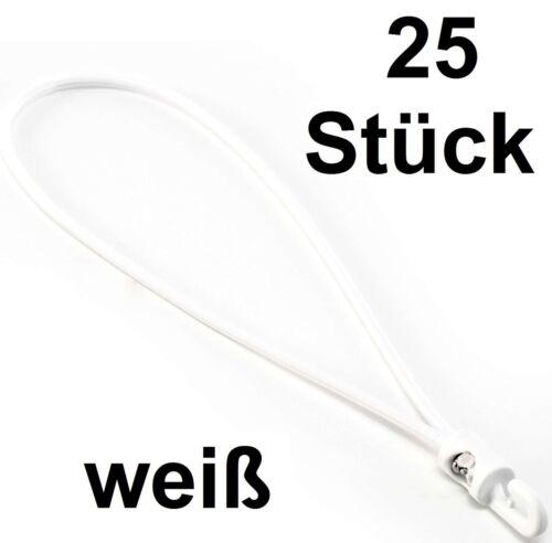 25 Stück Spanngummi 27cm x 4mm weiss Planenspanner Spannfixe Kunststoffhaken NEU