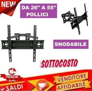 Supporto-staffa-porta-tv-televisore-doppio-braccio-snodabile-da-26-55-039-039-pollici