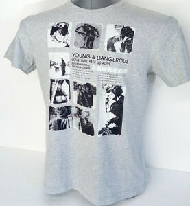 Young-amp-Dangerous-t-shirt-cotton-grey-size-XL-fit-M-short-sleeve-IDEm-brand