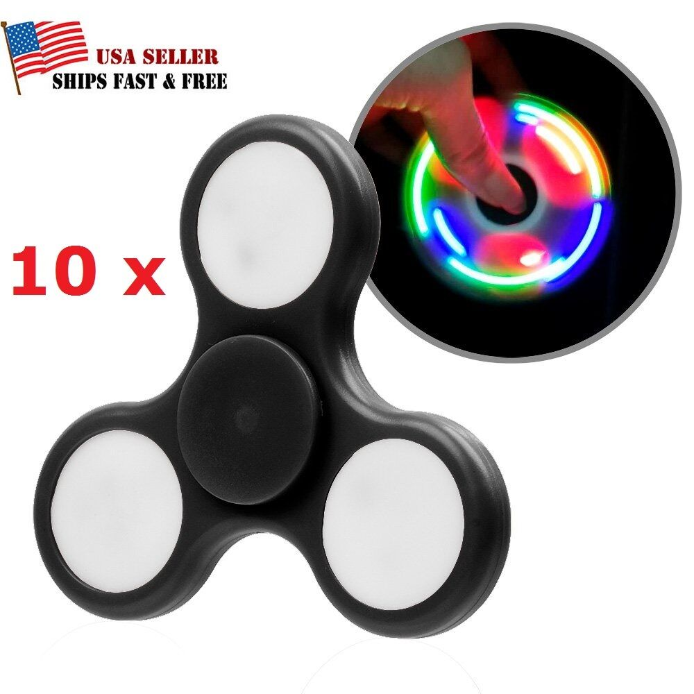Wholesale Lot 10x Fidget Hand Tri Spinner Stress ROTucer Desk Toy Finger Focus