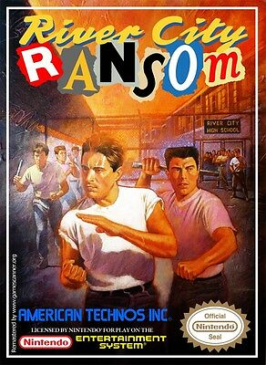 Retro River City Ransom Game Poster////NES Game Poster////Video Game Poster////Vintage