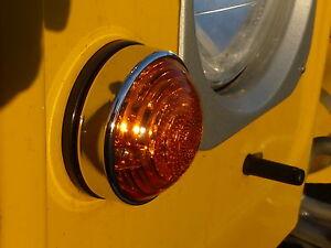 Land-Rover-Defender-90-110-INDICADOR-LED-PILOTO-amp-aro-cromado-embellecedor-retro