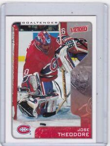 2001-02-VICTORY-NO-186-JOSE-THEODORE-MONTREAL-CANADIENS