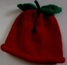 cb71e4a03ac Merry Berries Red Apple Hand Knitted 100 Cotton Baby Berry Hat 0-3 ...