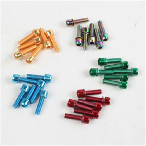 6Pcs MTB Bicycle Stem Bolts M5 x18mm Stainless Steel Bolt Screw