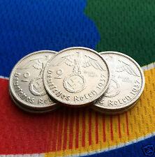 1937 A (1) WWII  2 Mark German Silver Coin Third Reich Swastika Reichsmark