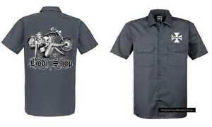 Body Grau Hd Vintage Chopper Modell amp;oldschoolmotiv Shop Shirt Biker Worker 84q5ARw