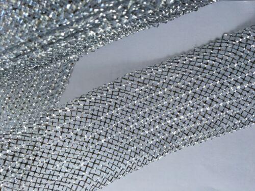 7 cm Metallic Pleated Veiling Horsehair Crin 1 yard