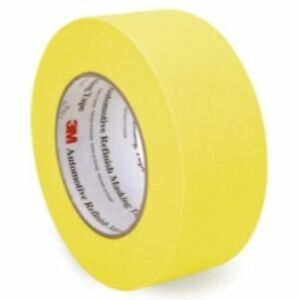 3M 06656 Crepe Paper Automotive Refinish Masking Tape 2 Inch, 6 Pack, Yellow