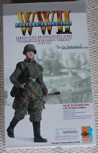 Figurine d'action de dragon 1/6 Ww11 German Eric Grevstad 12 '' Boxed Did Cyber Hot Toy