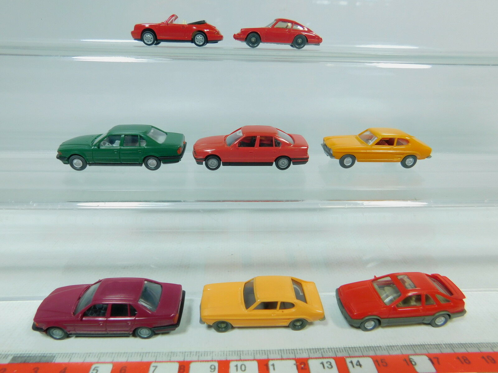Av181-0, 5  8x wiking h0 voiture  Ford sierra  Capri, BMW, porsche 911 Carrera, s.g.