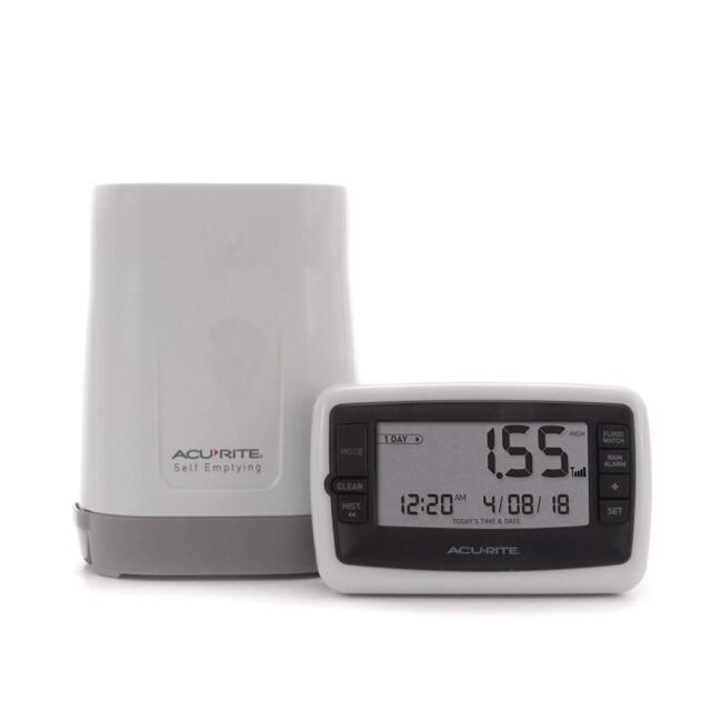 AcuRite 00899 Flood watch alarm Wireless Rain rainfall Monitor Device Gauge