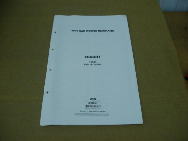 1990 Ford Escort Wiring Diagram Sheet Service Shop Manual