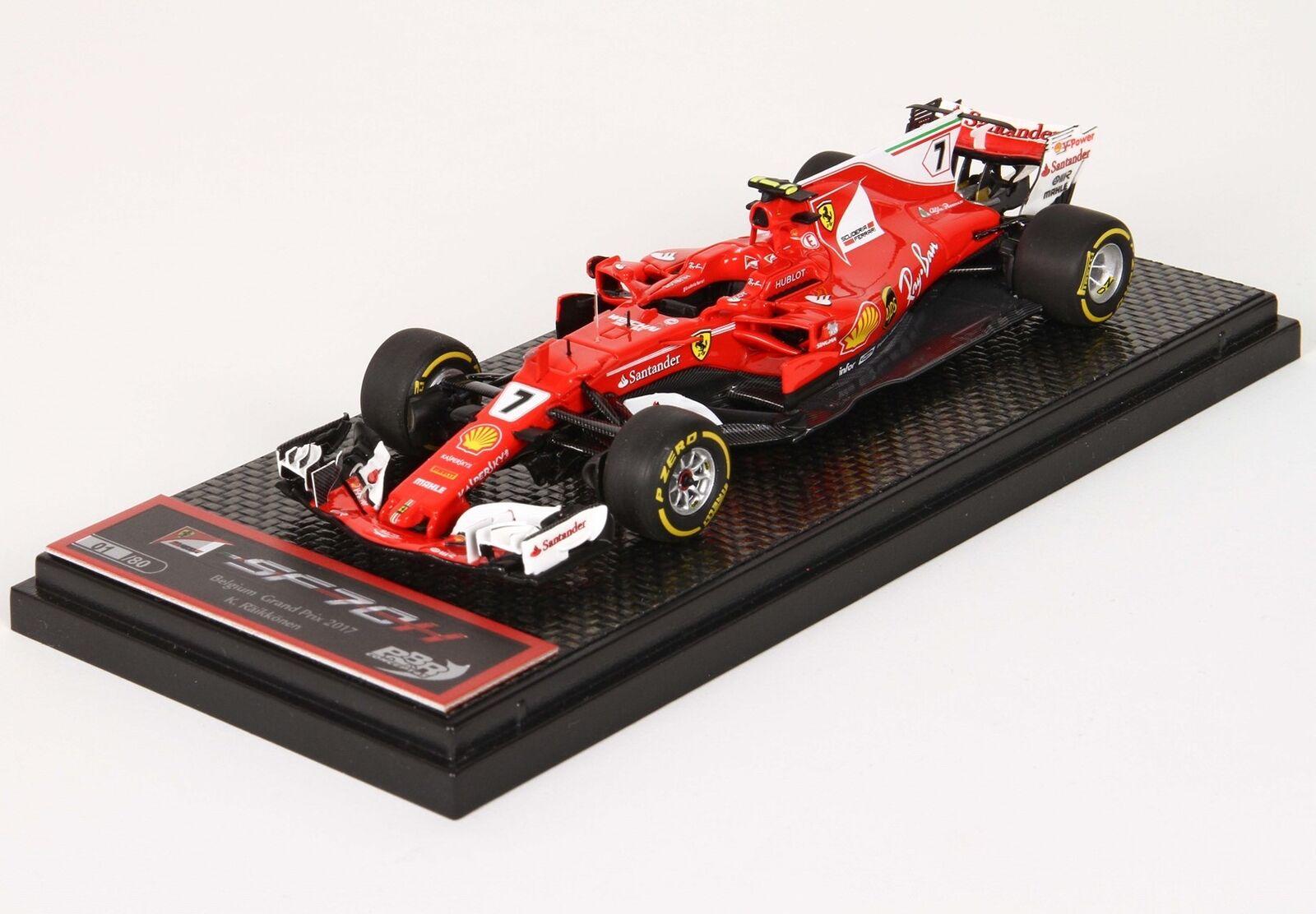 Ferrari F1 Sf70H  7 4Th Belgium Gp 2017 Kimi Raikkonen BBR 1 43 BBRC206B