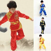 Kong Fu Uniforms Wushu Outfits Golden Sequins Clothing For Child Show Newest