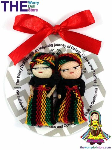 New Rasta Boy and Girl Worry Dolls 5cm