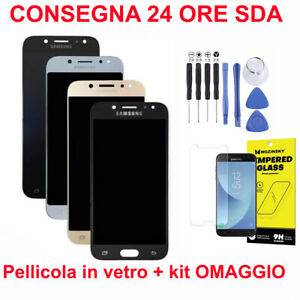 DISPLAY-LCD-VETRO-TOUCH-SCREEN-PER-SAMSUNG-J530-F-DS-Y-DS-J5-2017-NERO-ORO-O-BLU