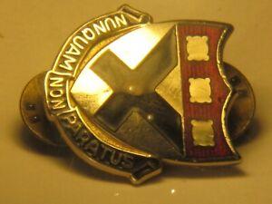 vintage NUNQUAM NON PARATUS pin military pinback lapel ...