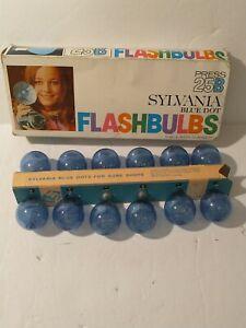 Vintage Sylvania Press-25B Blue Dot - Pack of 12 Flash Bulbs - Original Box