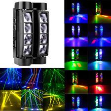 RGBW 8x10W LED Spider Beam Moving Head Stage Lighting DMX DJ Disco Lights