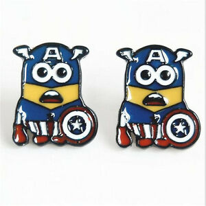 Minion-Captain-America-Earrings