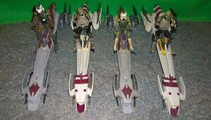 Star-Wars-ROTS-Kashyyyk-BARC-Speeder-Bike-Clone-Trooper-Lot-Used