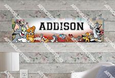 Personalized/Customized Tom and Jerry Name Poster Wall Art Decoration Banner