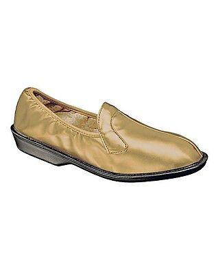 Señoras elástica de talón bajo Zapato C/d Fit-Uk Size 6-Café Color-Nueva