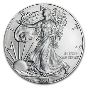 2011 1 oz Silver American Eagle BU - SKU #59157