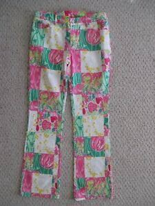 6 Sequined Pulitzer Blomsterbukser Størrelse Patchwork Lilly w7XqTAw