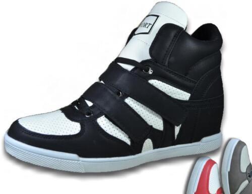 Damen Herren Sneaker Hochschaft High Top NEU Schuhe Turnschuhe Sportschuhe @2541