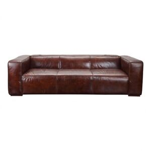 Low Back Wide Seat Top Grain Leather