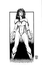 Original Comic Art David Finch Livesay Spider-Woman FULL BODY Commission 11x17