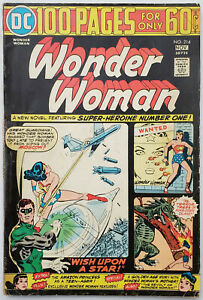 Wonder-Woman-214-Bronze-Age-DC-Comics-1974-VG-Taped-Spine