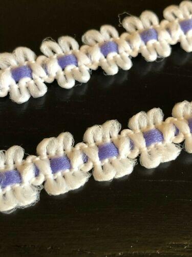 Laverslace blanc et profond violet lilas dentelle coton Cluny Trim 1 cm COUTURE