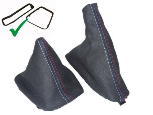 Shift /& E brake Boot For BMW E46 1999-05 With Inner Plastic Frame Suede M3