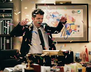Adam-Scott-Signed-Autographed-8x10-Photo-Parks-and-Recreaition-Party-Down-COA-VD