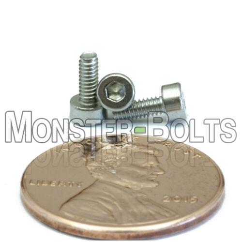 M1.6-0.35 x 4mm Stainless Steel Socket Head Caps Screws Metric DIN 912 A2 Coarse