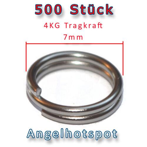 500 SprengringeØ7mm4KG TragkraftGroßpackungSplitringeAngelhotspot